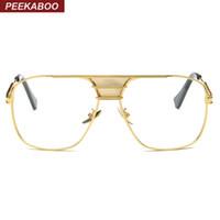 c9bd3a85190dec Gros-Peekaboo nouvelle monture de lunettes noire pour hommes femmes haute  qualité grande or cercles de lunettes hommes cadres marque designer métal