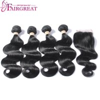 Wholesale Clearance Malaysian Hair - Clearance Sale Within Large Stock Virgin Malaysian Body Wave 4Bundles With Lace Closure By 4x4 Lace