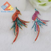 Personalidade da moda Fêmea Peacock Brooch Beautiful Animal Bird Crystal Broches Pins Factory Price Fashion Jewelry