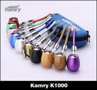 Wholesale Green Electronic Products - kamry k1000 wooden e pipe epipe kit kits vaporizer pen wood atomizer coil coils ecig ecigar e cig electronic cigarette smoking product
