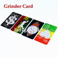 Wholesale Leaf Grinder - credit card herb grinder Stainless Steel tobacco card grinder smoke cigarette smoking pipe hand muller grind mill leaf spice