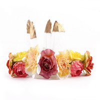 Wholesale Kids Feather Headdress - Ins chirstmas hair bands 15 inch baby girls feather and flowers headdress children beach photography garlands kids jewelry accessories T0307