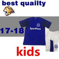 Wholesale Shorts Teen - top thai 2017 2018 Everton Kids kit Soccer Jerseys child teens Shirt LUKAKU MIRALLAS LENNON BARKLEY 17 18 Home Football shirts