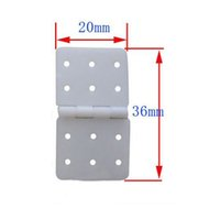 Wholesale Nylon Hinges - 10Pcs Nylon Hinge 20x36mm for RC Airplane with Aileron Removable Split Pins