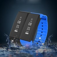 Wholesale Cameras Moniter - 1pcs Bluetooth 4.0 Smart Wristband Heart Rate Moniter Pedometer Sport Smartband 0.86 inch IP67 Waterproof for Android iOS D1
