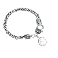 Wholesale Russia Antique - Eco-friendly Antique Silver Plated Star of Russia Lada-Virgin Amulet Male Gothic Slavic Charm Bracelet For Gift Jewelry