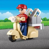 Wholesale Small Luban - Small Luban new 0563 simulation city - Courier assembly blocks puzzle children toy building blocks
