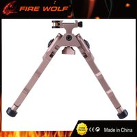 Wholesale Quick Tan - FIRE WOLF Tactical BR-4 Bolt Action Quick Detach Bipod fit 20mm Picatinny Rail for Rifle Scope Black Tan