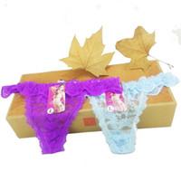 Wholesale Good Bikini Thongs - Good quality Cotton three cat Women's Sexy Thongs G-string Underwear Panties Briefs For Ladies T-back 1pcs Lot,zhx99