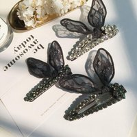 Wholesale Ear Pins Wedding - 2017 newest high quality great amount Rabbit ear hairpin bb clip black hair pins hair clip as for gift
