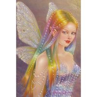 Wholesale Butterfly Cross Stitch - Butterfly Fairy Angel Diamond Painting 5D Diamond Mosaic Rhinestone Cross Stitch Embroidery Home Decor Handmake De Gifts (Free Shipping)