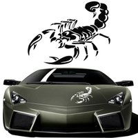 Wholesale Plastic Black Scorpions - 3D Car Stickers and Decals Cute Scorpion Styling 28cm Funny Stickers for BMW VW Ford Toyota Honda Kia Stickers