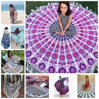 Wholesale Outdoor Yoga Mats - Indian Round Mandala Beach Throw Hippie Yoga Mat Towel Bohemian Tapestry Blanket 2017 hotsale
