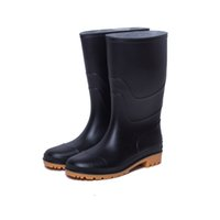 Wholesale Men Women RAINBOOTS fashion Knee high rain boots waterproof welly boots Rubber rainboots water shoes rainshoes tall and short Size