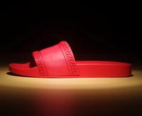 Wholesale Mens Rubber Sandals - hot brand Men Beach Slide Sandals Medusa Scuffs 2017 Slippers Mens black white red Beach Fashion slip-on designer sandals