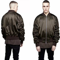 Wholesale Cool Stand Collar - Cool Exclusive Newest MA1 Bomber Jacket 2017 Fashion Men Military Style Solid Color Represent Hip Hop Flight Jackets