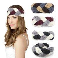 Wholesale Cheap Winter Headbands - Women Knitting Headbands Braided Girls Head Bands Crochet Winter Warm Headwrap Fashion Hairbands Hair Accessories 4 Colors Cheap Sale