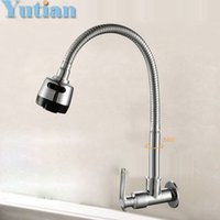 Wholesale Ceramic Wall Plates - Wholesale- Hot-sell,Free shipping,Brass Cold Kitchen Faucet, single Cold Sink Tap, torneira Cold Kitchen Tap,YT-6026-A