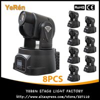 Wholesale 15w Mini Led Spot - (8PCS) Spot 15W LED Mini Moving Head Club DJ Stage Light Best Price Free Shipping