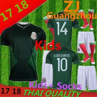 Wholesale Children S Cotton Socks - Mexico kids+ Socks jersey 2018 CHICHARITO home children G.DOS SANTOS R.MARQUEZ C VELA thai quality Mexico r Jersey 17 18 shirt