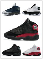 Wholesale Dmx 27 - High Quality retro 13s basketball Sports Shoes Boy Girl Basketball Sneakers For Sale US6C~10C EU22~27
