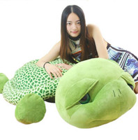 Wholesale Tortoise Stuffed Animal - 59''   150cm Lovely Stuffed Soft Giant Animal Tortoise Turtle Toy Birthday Gift for Babies Free Shipping