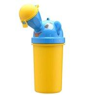 urinol de carro portátil venda por atacado-Eco Friendly Unisex Portátil Dos Miúdos Dos Desenhos Animados Crianças Urinol Balde de Viagem Do Carro Higiênico Potty Formação Xixi Camping Garrafas De Urina