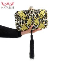 Wholesale blue satin evening bag - Wholesale-2016 New fashion Women Tassel Bags Party Clutch Evening High Quality Female Clutch Handbag With Chain Elegant Purse