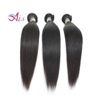 Wholesale hair weave heads online - 100 Natural Human Hair Grade A inches Brazilian Unprocessed Silky Straight Human Hair Weave Bundles Full Head Hair Extensions