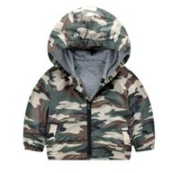 Wholesale 4t Camouflage Clothes - Kids Clothes Boys Jacket and Coat Spring Hooded Coat Camouflage Quality Sports Jacket Children Casual Outwear