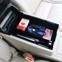 Wholesale Carbon Fiber Storage Boxes - Car Glove Box Organizer Armrest Secondary Storage Center Console Tray For Toyota Camry 2012 2013 2014 2015