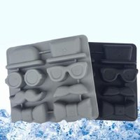 Wholesale Butterfly Trays - DIY Creative TPR Ice Tray Gentleman Style Ice Cube Beard Butterflies Silicone Ice Trays Mold Bakeware Molds