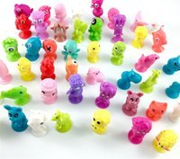 Wholesale Toys Animal Marine - NEW Mini Sucker Dolls kids Marine Monster Animal Cupule Suckers Action Toy Suction Cup Collector Capsule Model Puppet 50Pcs lot