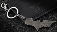 Wholesale Batman Bruce Wayne - Wholesale-The Avengers Marvels Super Hero Batman Bruce Wayne Keychain Pendant Key Chain Metal Keychains Key Ring Free Shipping