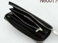 Wholesale Men Leather Wallet Boxed - Brand men and women holding a purse single zipper banknotes folder card wallet no box 4 color