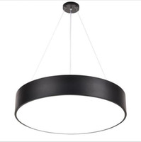 Wholesale Suspension Lights Modern - Modern minimalism led hanging lights suspension lighting office led pendant light matte metal round pendnat lighting fixtures AC85-265V