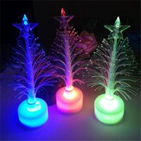 Wholesale Luminous Led Trees - Led Christmas Tree Light Outdoor Indoor Flashing Xmas Tree Nightlight Lamp Colorful luminous Christmas New Year Decorations Ornaments DHL