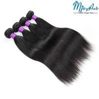 dhgate virgen brasileño al por mayor-4 paquetes de cabello humano envuelve cabello brasileño virgen que teje extensiones de cabello natural de 8 a 28 pulgadas DHgate barato húmedo y ondulado