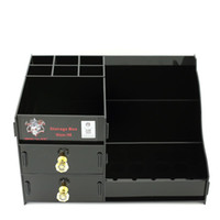 Wholesale clear acrylic storage - Demon Killer Storage Box Vape Display Showcase Stand Shelf Holder Acrylic Material Black Clear Colors M Size For Coil RDTA Bottles Mods DHL