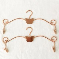 Wholesale Butterfly Hangers - Rose Gold Stainless Steel Hanger For Bra Butterfly Type Plating Lingerie Hanger With 2 PCS Big Hook Metal Bra Underwear Rack