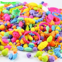 Wholesale Electric Kite - Happyxuan 370pcs pack Creative Variety Popper Beads DIY Beaded Assembling Kits Creative Early Learning Education Toy Girl