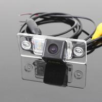 Wholesale vw cameras resale online - For Volkswagen VW Sagitar Car RearView Camera Backup Parking Camera HD CCD RCA NTST PAL License Plate Light OEM