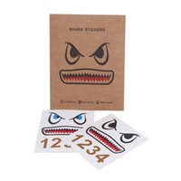 Wholesale Decal Shark - 2 pcs Shark Stickers for DJI Mavic Pro and Numbers for Batteries Waterproof Facial Decal Skin Sticker for Mavic Pro