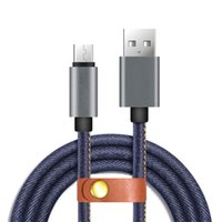 Universal speed data transfer - Denim Fabric Micro USB Cable ft m High Speed Charging Sync Fast Data Transfer Cable Cord for Android Cell Phone Accessories