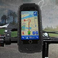 fahrradhalterung großhandel-Einzigartige Wasserdichte Fahrrad Lenker Clip Ständer Halter Halterung Stoßfest Telefon Fall Für iPhone X 8 7 6 s plus Kleinpaket Aicoo