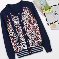 sparkle knit sweater - New Autumn Fashion women s sweater O neck long sleeve sparkling squins casual cardigans single breasted de inverno feminina