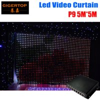 Wholesale Led Backdrops Curtain - High Quality P9 5M*5M LED Video Curtain PC Mode Controller Fireproof LED Vision Curtain LED Backdrops for Wedding Backdrops
