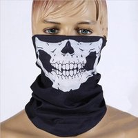 Wholesale Hot Head Scarf - Towel HOT Halloween Horror Mask Skull Head Tease Party Props Festive Supplies Masquerade Mask High-quality Cloth Adults Children Scarf