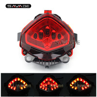 Para HONDA CB400X CB500X CBR400R CBR500R CB500F 2013-2015 14 Motorcycle Integrated LED Tail Light Indicador de giro Lâmpada intermitente Vermelho