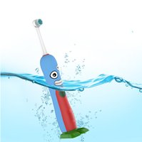 Wholesale Electric Massage Toothbrush - Mouth Cavity Oral Kids Children Cartoon Electric Toothbrush Oral Hygiene Electric Massage Teeth Care Kids Toothbrush Cleanser with tim